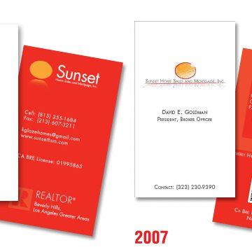 Sunset HSM Business Cards