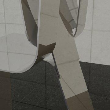 Sheet Metal Chair - Tripod